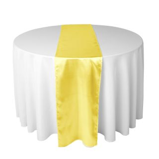 14 x 108 in Satin Table Runner for Wedding Reception or Shower