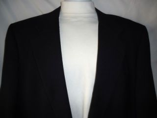 Mens Leonards Navy 100 Wool Sport Jacket Blazer Size 46L