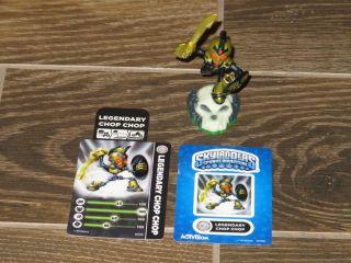 Adventure Skylanders LEGENDARY Chop Chop Game Figure + Card + Web Code