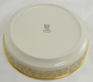 Lenox Tuscany Fine China Coupe Soup Bowl Gold Trim