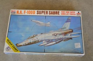 100D Super Sabre USAF Jet Fighter Model Airplane Kit 1 48