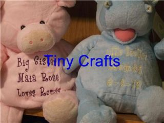 Personalized Stuffed Animal Baby Christening Graduation 18 Animal