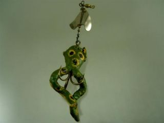 Vintage Antique RARE Grubes Frog Fishing Lure Bait