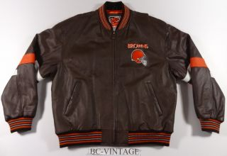 New Cleveland Browns Carl Banks G III 3 Lethaer Jacket Vtg XL Mint