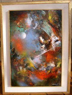 Leonardo Nierman Abstract Art Original Painting