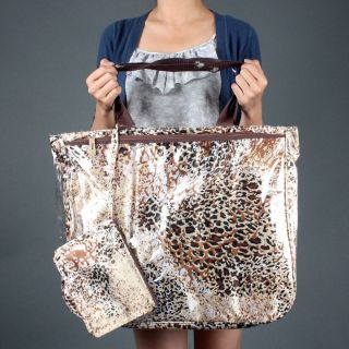 Waterproof Huge Leopard Animal Print Beach Shoulder Bag