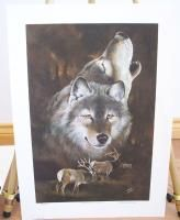 Eddie Lepage Northern Watch Limited Edition Print Wolf