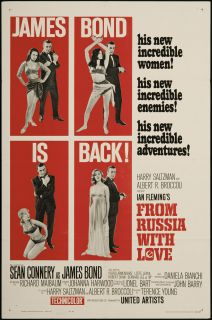 From Russia with Love 1963 Original U s One Sheet Movie Poster
