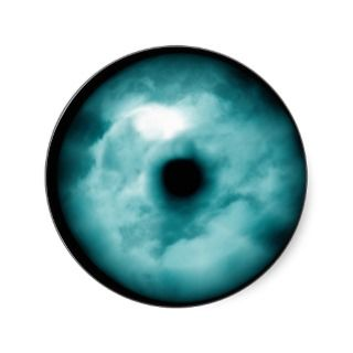 Blue Green eye cloud graphic aqua Stickers
