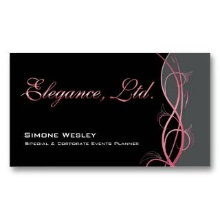 Gala Events Planner Coordinator Business Card Template