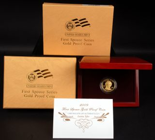 2009 $10 Letitia Tyler First Spouse 1 2 ozt 9999 Fine Gold Proof Coin