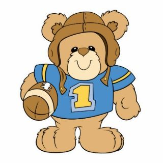 Football Teddy Bear Design Acrylic Cut Outs