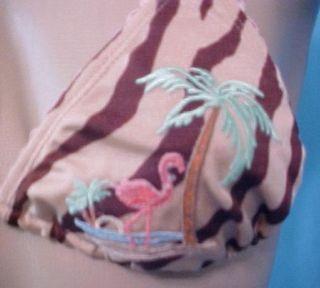 Victoria Secret Swimsuit Bikini Letarte Zebra Print 8