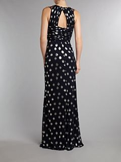 Adrianna Papell Evening Twist detail full length dress Navy