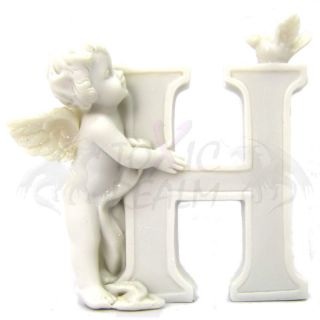 Cherub Angel Small White Wall Decor Cake Topper TR5549 Shelf Sitter