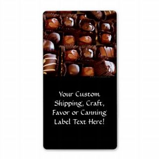 Box of Chocolates, Tempting Chocolate Candy Custom Shipping Label