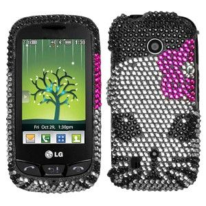 Kitty Crystal Bling Hard Case Cover for LG Cosmos Touch VN270