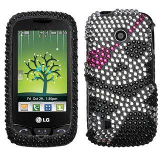 LG Cosmos Touch VN270 Skull Diamond Rhinestone Case