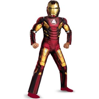 Avengers Iron Man Mark VII Light Up Muscle Chest Child Costume