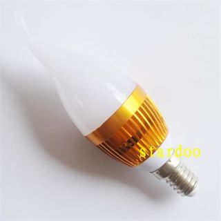 Cool White LED Energy Saving Candle Bulb Lamp Light 120V 265V