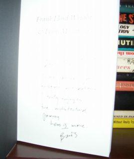 Bruce Brooks Frank Lloyd Wright Lewis Mumford Signed