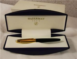 Waterman Edson Fountain Pen, 18k Gold Nib with 23K Gold plated cap and
