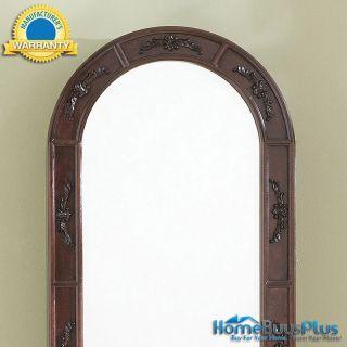 Morgan Jewelry Armoire Wall Mount Dark Cherry Storage Beveled Mirror