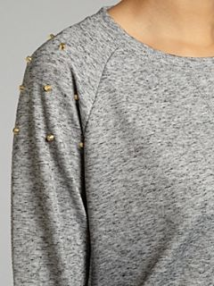 Vero Moda Studded shoulder sweat Grey