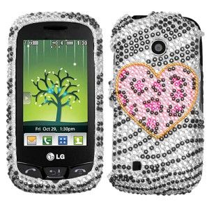 Leopard Crystal BLING Hard Case Phone Cover for LG Cosmos Touch VN270
