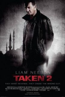 Liam Neeson Taken 2 Original International 27x40 Double Sided Movie