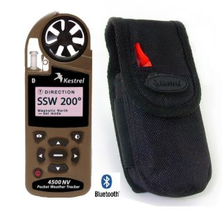 NEW Desert Tan Kestrel 4500NV Weather Wind Anemometer with Bluetooth
