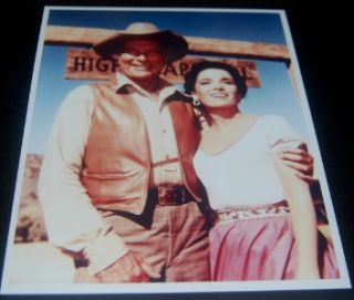 Linda Cristal Lief Ericson Signed Cards and Great High Chaparral Print