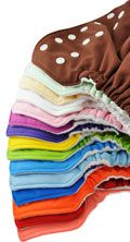 12 PK FuzziBunz Cloth Diaper Perfect Size Fuzzi Bunz