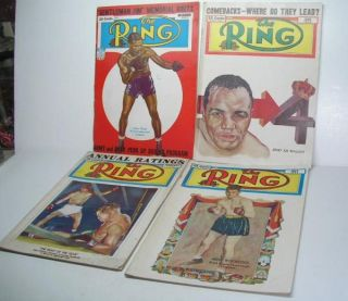 to 1951 the ring boxing magazines oct 1938 dec 1939 top corner torn