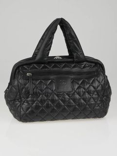 Chanel Black Quilted Nylon Coco Cocoon Bowling Bag