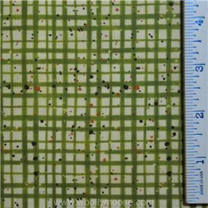 Half Yard Benartex Ghoulish Plaid Lime Green Susan Winget Quilt Fabric