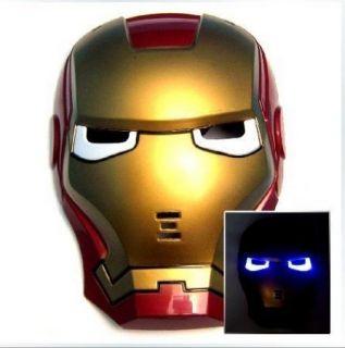 Iron Man Light Up Universal Kids Size Dress Up Halloween Costume Mask