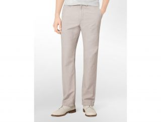 Calvin Klein Straight Fit Stripe Linen Pants Mens