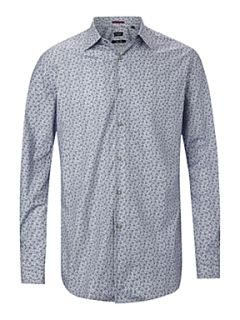 Paul Smith London Long sleeved floral shirt Blue
