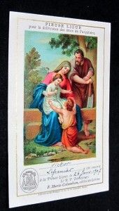 The Saint Family The Holy Ligue Official Card Gold Print 1900s