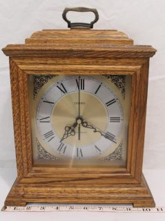 Beautiful Linden Westminster Chime Oak Mantel Clock