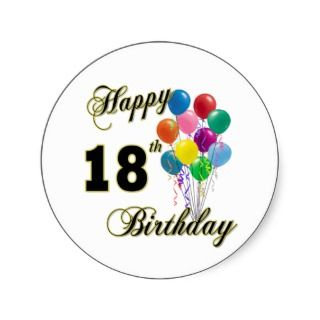Happy 18th Birthday Gifts Stickers