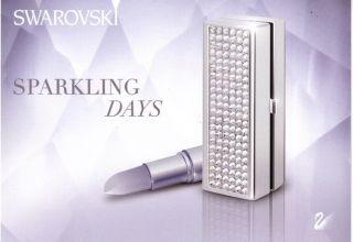 Swarovski Silver Crystal Sparkling Days Lipstick Case