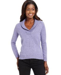 Karen Scott Petite Sweater, Long Sleeve Shawl Collar Cardigan