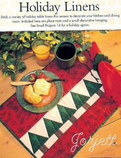 Quilt Block, Woodland Santa Quilt & Holiday Linens quilting patterns
