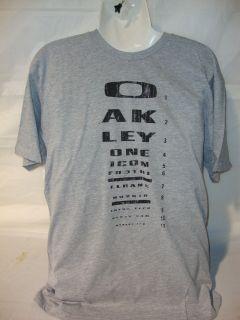 Oakley Eye Patch Reg Fit Graphic T Shirt   Guys Medium   Heather
