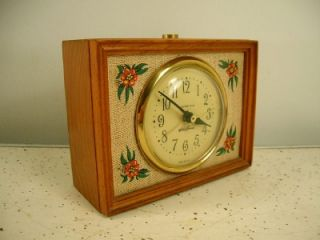 Vintage Seth Thomas Linwood Drowse Lighted Dial working Alarm Clock in
