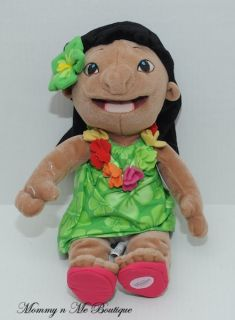 Disney Store Hawaiian Lilo 12 Plush Toy Doll