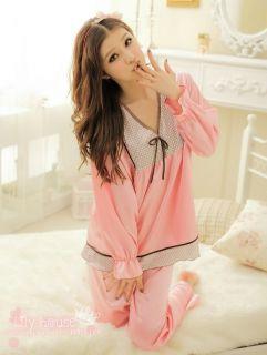 Lily House Korea Fashion Style Girls Womens Silk Pajamas 2pc Set
