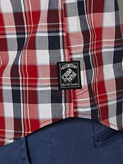 Criminal Bridge check long sleeve shirt Red